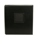 American Crafts - Leather Album - 8.5x11 - Post Bound - Black