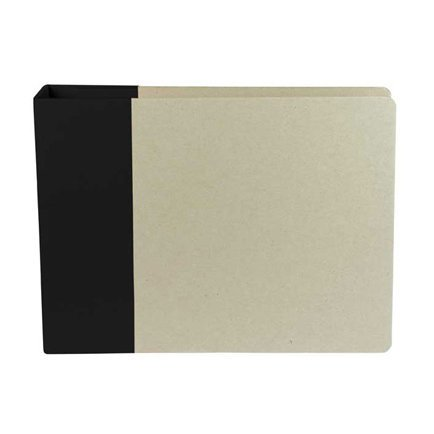 American Crafts - Modern Album - Customizable 12x12 D-Ring Album - Black