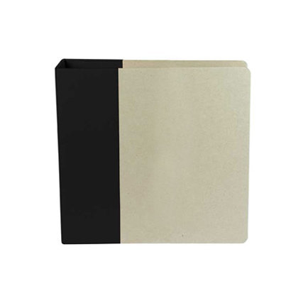 American Crafts - Modern Album - Customizable 8.5x11 D-Ring Album - Black