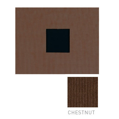 American Crafts - Corduroy Album - 8x8 D-Ring Album - Chestnut