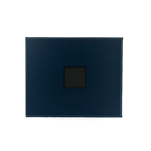 American Crafts - Faux Leather Album - 12 x 12 - D-Ring - Navy