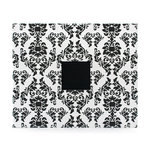 American Crafts - Patterned Cloth Album - 12 x 12 D-Ring - Black and White Damask