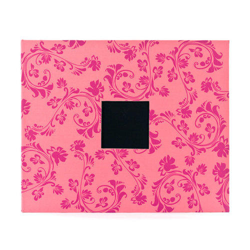 American Crafts - Patterned Cloth Album - 12 x 12 D-Ring - Taffy Flourishes