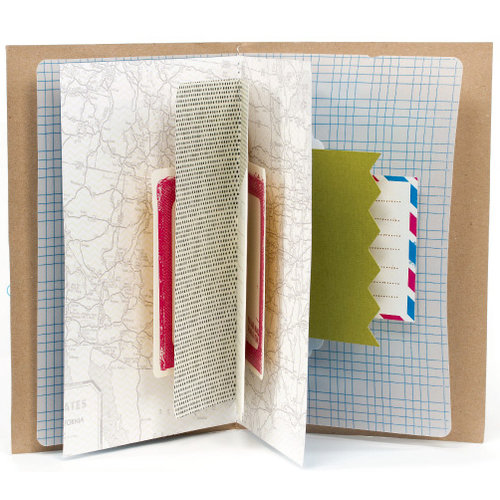 American Crafts - Amy Tangerine Collection - Mini Book - Off the Map