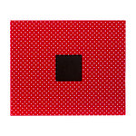 American Crafts - Patterned Album - 12 x 12 D-Ring - Cardinal Dots