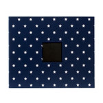 American Crafts - Patterned Album - 12 x 12 D-Ring - Navy Stars