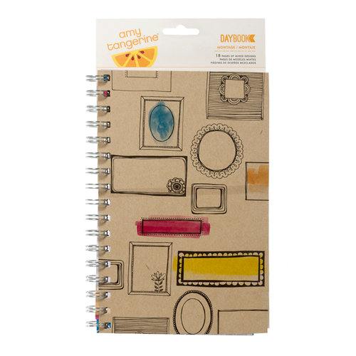 American Crafts - Amy Tangerine Collection - Sketchbook - Daybook - Spiral - Montage