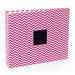 American Crafts - Patterned Cloth Album - 12 x 12 D-Ring - Pink Chevron