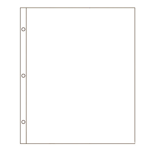 American Crafts - Page Protectors -  8.5 x 11 - 10 Pack