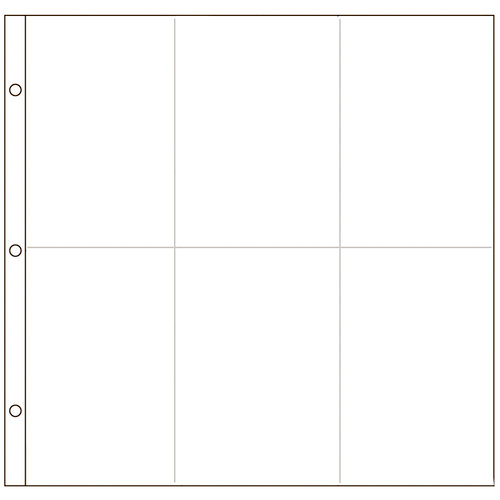 American Crafts - 12 x 12 Photo Protectors for 4 x 6 Photos - Vertical - 10 Pack