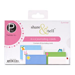 American Crafts - Pebbles - Share and Tell Collection - Journaling Cards - Summer