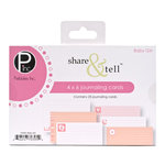 American Crafts - Pebbles - Share and Tell Collection - Journaling Cards - Baby Girl