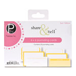 American Crafts - Pebbles - Share and Tell Collection - Journaling Cards - Sun Yellow