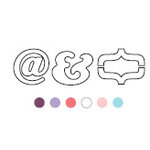American Crafts - Typehouse - Punctuation - Plastic, CLEARANCE