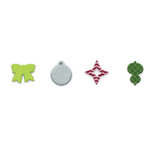 American Crafts - Holidayhouse - Christmas - Patterned Chipboard Pieces, CLEARANCE