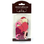American Crafts - Sweethouse - Romance - Patterned Chipboard Pieces, CLEARANCE