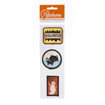 American Crafts - Nightfall Collection - Halloween - Patch 'Ems - Embroidered Embellishments - Hallows' Eve