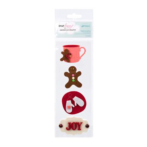American Crafts - Dear Lizzy Christmas Collection - Details - Felt Pieces - Tidings
