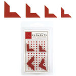 American Crafts - Elements - Metal Photo Corners - Cherry