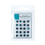 American Crafts - Jewel Brads - Aqua - Medium, CLEARANCE