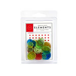 American Crafts - Glitter Buttons - Primaries, CLEARANCE