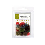 American Crafts - Glitter Buttons - Earth Tones, CLEARANCE