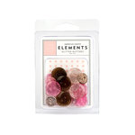 American Crafts - Glitter Buttons - Baby Girl, CLEARANCE