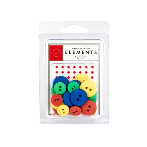 American Crafts - Buttons - Primaries, CLEARANCE