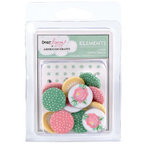 American Crafts - Dear Lizzy Spring Collection - Fabric Brads - Assorted - Large, CLEARANCE