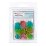 American Crafts - Dear Lizzy Christmas Collection - Glitter Buttons, CLEARANCE