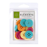 American Crafts - City Park Collection - Buttons - Assorted, CLEARANCE