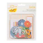 American Crafts - Amy Tangerine Collection - Ready Set Go - Bits - Die Cut Cardstock Pieces - Shapes