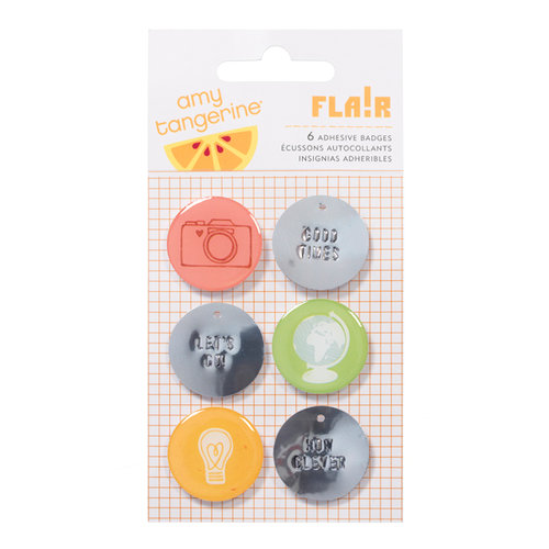 American Crafts - Amy Tangerine Collection - Ready Set Go - Flair - Stickers