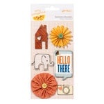 American Crafts - Amy Tangerine Collection - Ready Set Go - Details - 3 Dimensional Stickers