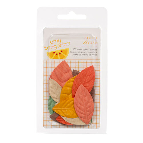 American Crafts - Amy Tangerine Collection - Ready Set Go - Field House - Paper Leaves
