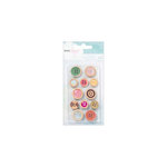 American Crafts - Dear Lizzy 5th and Frolic Collection - Wood Buttons with Epoxy Accents