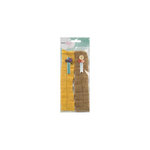 American Crafts - Dear Lizzy 5th and Frolic Collection - Stitched Ruffle Strips - Burlap and Fabric