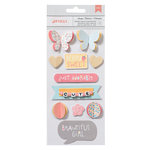American Crafts - My Girl Collection - Details - 3 Dimensional Stickers