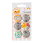 American Crafts - Amy Tangerine Collection - Yes, Please - Flair - Stickers - Embrace