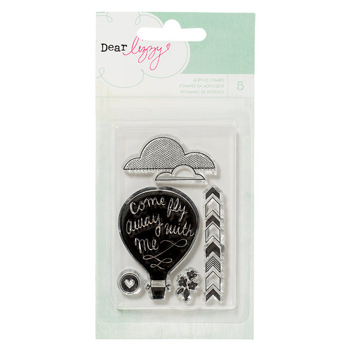 American Crafts - Dear Lizzy Lucky Charm Collection - Clear Acrylic Stamps 2