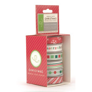 American Crafts - Occasions Boxed Ribbon - Christmas Collection - Father Christmas, CLEARANCE