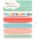 American Crafts - Dear Lizzy Spring Collection - Ribbon - Leafy, CLEARANCE