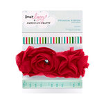 American Crafts - Dear Lizzy Christmas Collection - Ribbon with Gem Accents - Sleigh, BRAND NEW