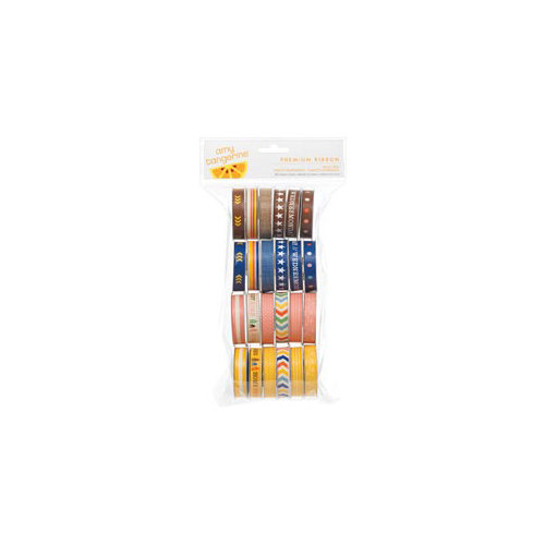 American Crafts - Amy Tangerine Collection - Summer - Ribbon Value Pack - 24 Spools