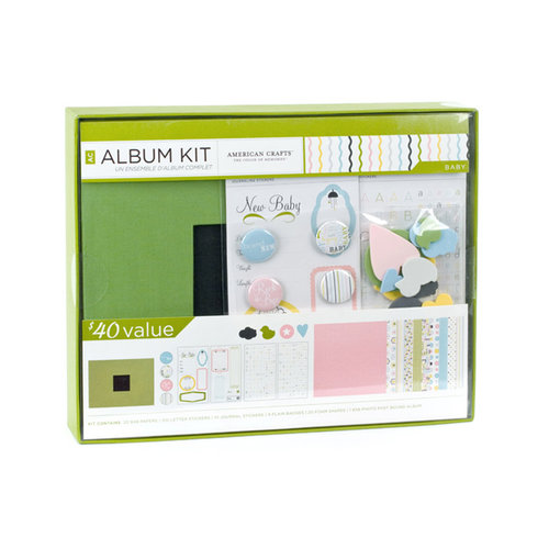 American Crafts - 8 x 8 Album Kit - Baby
