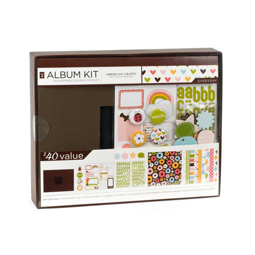 American Crafts - 8 x 8 Album Kit - Everyday