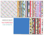 American Crafts - Play Paper Pack - 12 x 12 Paper - 100 Sheets