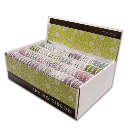 American Crafts - Spring Has Sprung - Spring and Easter Ribbon Box - 192 Spools, BRAND NEW