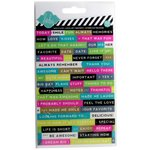 Becky Higgins - Project Life - Heidi Swapp Collection - Sheer Stickers - Words