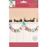 American Crafts - Christmas - Kit - Banner - Merry and Bright